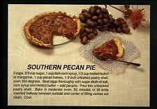 Recipe postcard US Southern Pecan Pie