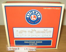 LIONEL 62180 RAILROAD SIGNS TRAIN LAYOUT ACCESSORY O GAUGE CITY ROAD STREET STOP