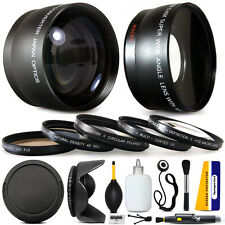 10 Piece Pro Lens kit for Sony Alpha A37 A5000 NEX-7 NEX-3N