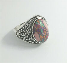 Vintage Woman 316L Stainless Steel Vogue Design Mini Stone Ring Size 10  HOT