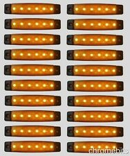 20 pcs 24V 6 LED Side Marker Orange Amber Lights for Truck RENAULT SCANIA IVECO