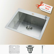 "Customized Design 24"" Top Mount Zero Radius Kitchen Sink Grid Colander KTS2421"