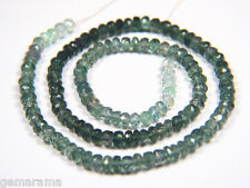 """Genuine Shaded GreenTourmaline Gemstones Faceted Rondelle Beads 5mm - Ombre - 7"""""""