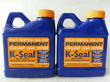 2 BOTTLES K-SEAL Permanent Coolant Leak Repair 8 oz Head Gasket Radiator KSEAL