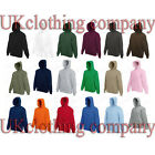 Fruit of the Loom Men's Hooded Sweatshirt - Plain Hoodie Blank Pullover Hoody