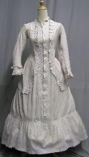 #1701, 1870's Princess Cut Cotton Print Day Dress