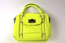 Merona Mini Satchel Handbag Purse Only PEACE GREEN Color Safety Neon HOT New!
