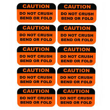 100 1x2 fragile do not crush bend or fold shipping warning labels stickers