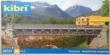 kibri H0 39707 Fachwerk-Stahlbrücke, eingleisig, 335 mm lang, Bausatz, Neu
