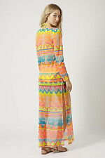 Topshop Aztec Surf Print Maxi Dress UK Size ( L ) RRP- £36 ( PART TAG ) LAST ONE