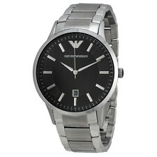 Emporio Armani Sportivo Black Dial Stainless Steel Mens Watch AR2457