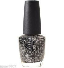 OPI Gwen Holiday I'LL TINSEL YOU IN Black White Confetti Glitter Nail Polish F15