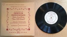LOUIS ARMSTRONG-10 INCH 33RPM RECORD
