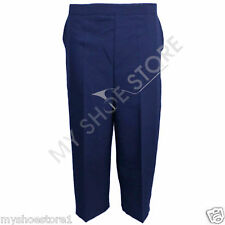 LADIES WOMEN 3/4 STRETCH ELASTICATED WAIST CAPRI CROPPED TROUSERS PLAIN PANTS