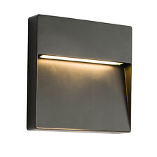 Saxby 61342 Tuscana 9W Matt Black Square Aluminium Outdoor IP44 LED Wall Light