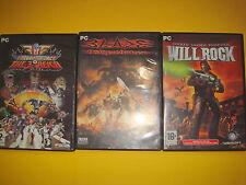 Tres juegos de PC- BLADE- WILLROCK- THE 3RD REICH -buen estado