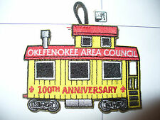 CP Okefenokee Area Council,Train Caboose,1910 - 2010,100th Ann BSA,pp, OA 229,GA