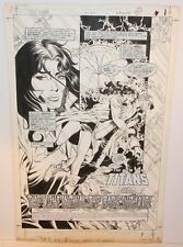 New Teen Titans #14 p.1 - Title Splash - 1987 art by Eduardo Barreto