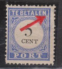 Port nr 19 f MLH ong PLAATFOUT HAAKJE NVPH Nederland Netherlands due portzegel