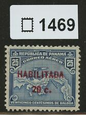 Panama 1932 Used Overprinted Airmail Stamp 17mm long | Scott #C16A | 1469