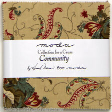 "Moda FABRIC Charm Pack ~ COLLECTION FOR A CAUSE - COMMUNITY ~Howard Marcus 5"" sq"