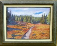 Path Leading to Forest 16x12 Sean Wu Landscape Original Oil Painting Framed Art