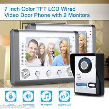 """Videosprechanlage IR CCTV Kamera 7"""" TFT LCD Monitor Gegensprechanlage Türklingel"""