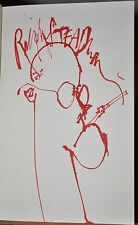 SIGNED W. ORG STEADMAN DRAWING, FEAR AND LOATHING IN LAS VEGAS ~HUNTER THOMPSON