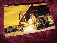 Catalogue / Brochure SCANIA Construction Trucks P / T & R 2004  //