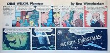 Chris Welkin Planeteer by Art Sansom - scarce Sunday comic page - Dec. 23, 1956
