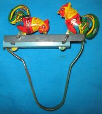 Vintage Antique Collectible Hand Crafted Litho Printed Tin Toy Hen Toy