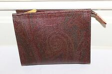 ETRO Leather Pouch Bag 100% authentic