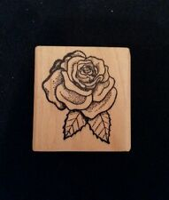 ROSE BLOSSOM Rubber Stamp FLOWER Garden Floral Love Valentine Wedding Roses