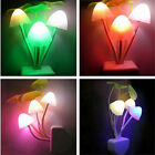 Lovely Lamp Colorful LED Mushroom Night Light Bed Wall Lamp Home Illumination TR