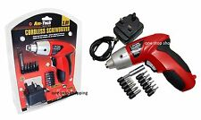 PRO 3.6V ELECTRIC RECHARGEABLE BATTERY CORDLESS SCREWDRIVER DRILL SET BITS