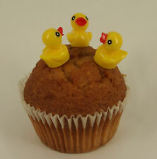 6 x Easter Yellow Chicken Duck Plastic Cupcake Topper Cake Decoration