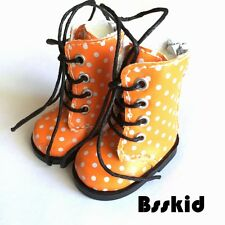 "Y02 BJD Yo-SD 1/6 Dollfie 13"" Effner 12"" Kish ORANGE Doll Shoes Boot Polka Dot"
