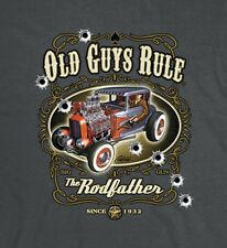 "OLD GUYS RULE "" THE RODFATHER "" S/S  HOT ROD V8 MUSCLE COUPE BIG GUN SIZE 2X"