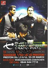 Snooker Players Championship Grand Final Flyer. Signed by David Gilbert.