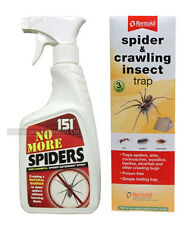 Spider Repellent Kit - Includes No More Spiders Spray 500ml and 3 x Spider Traps