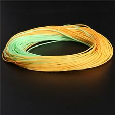 Long Cast Fly Fishing Line Weight Forward Floating Welded Loops 100FT 6WT Yellow