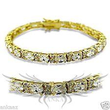 Ladies Brilliant AAA Grade Cubic Zircon CZ Gold Plated Tennis Bracelet 415502