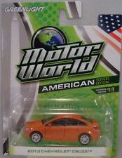 GREENLIGHT COLLECTIBLES 1:64 SCALE DIECAST METAL ORANGE 2013 CHEVROLET CRUZE