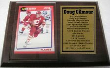 Calgary Flames Doug Gilmour Hockey Card Plaque