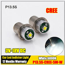 2X 5W Wattage LED Lightbulb P13.5s Bulb for Ryobi P704 Flashlight 3V 6V 12V 18V