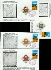 Vermont  Festival 1992 Set of 4 + 1745-1748 Quilt Stamps Folk Art Whits Covers