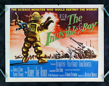 THE INVISIBLE BOY * CineMasterpieces MOVIE POSTER 1957 ROBBY ROBOT SCI FI