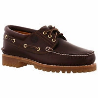 Timberland 50009 Heritage 3 Eye Brown Leather Deck Boat Shoes