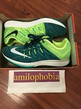 New Men's Nike Air Zoom Elite 8 Size 11.5 Turquoise White Volt Running Shoes