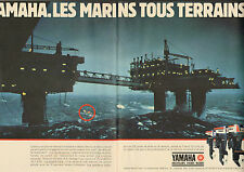 Publicité 1983  (Double page)  YAMAHA  moteurs de bateaux hors bord